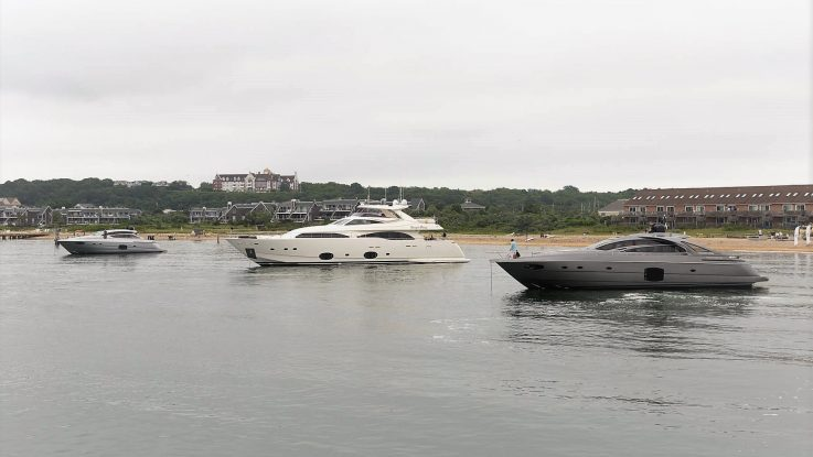 Ferretti Group America and Allied Marine Entertain at their Navy Beach Renedezvous