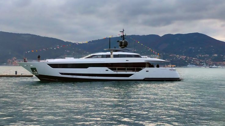 THE FIRST CUSTOM LINE 120' TAKES TO THE SEA