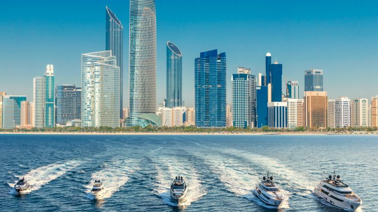 Ferretti Group's fleet alongside with Scuderia Ferrari at the 2018 Abu Dhabi Grand Prix