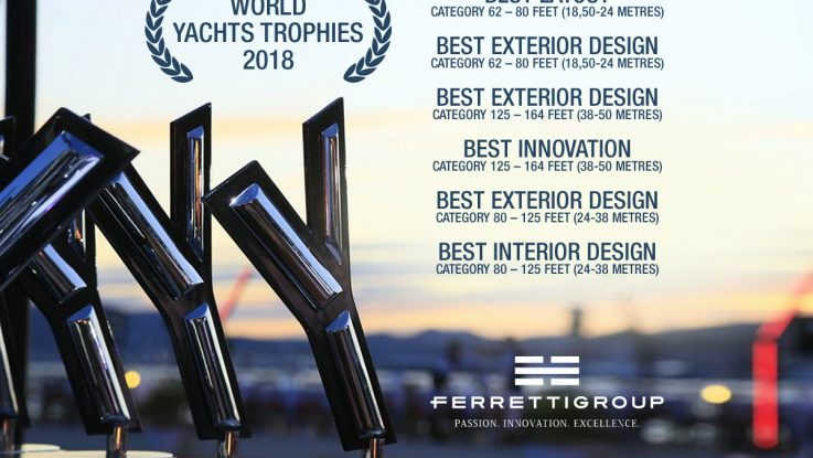 Ferretti Group swept the World Yachts Trophies 2018 6 awards for the wonderful Cannes Premieres